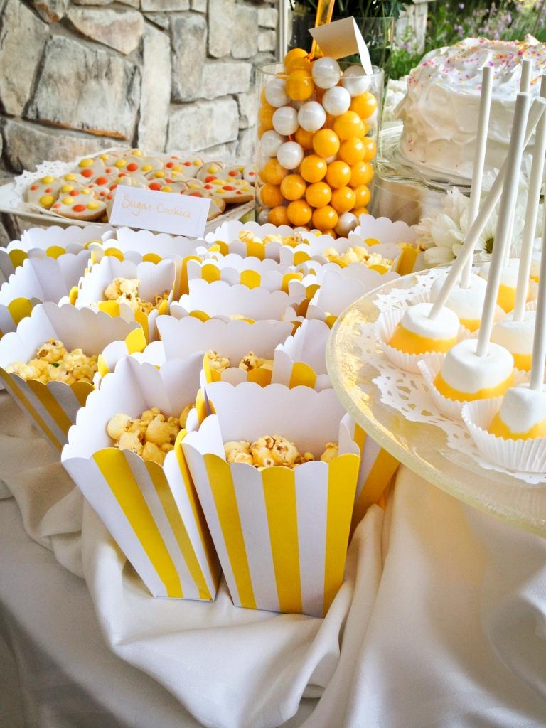 Orange Candied Popcorn