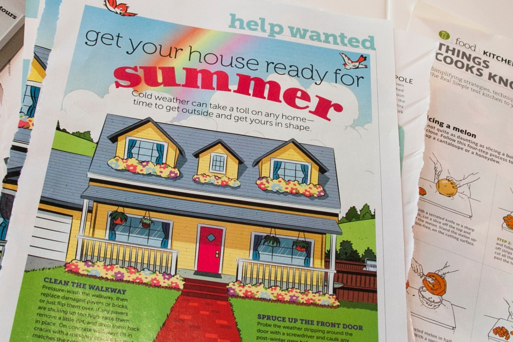 This was my favorite off all the tears today. It is a list of 16 things to do to get your yard ready for summer. I realize Summer is here but it's never to late to get these things done. We are going to revisit this one in future projects, for sure.