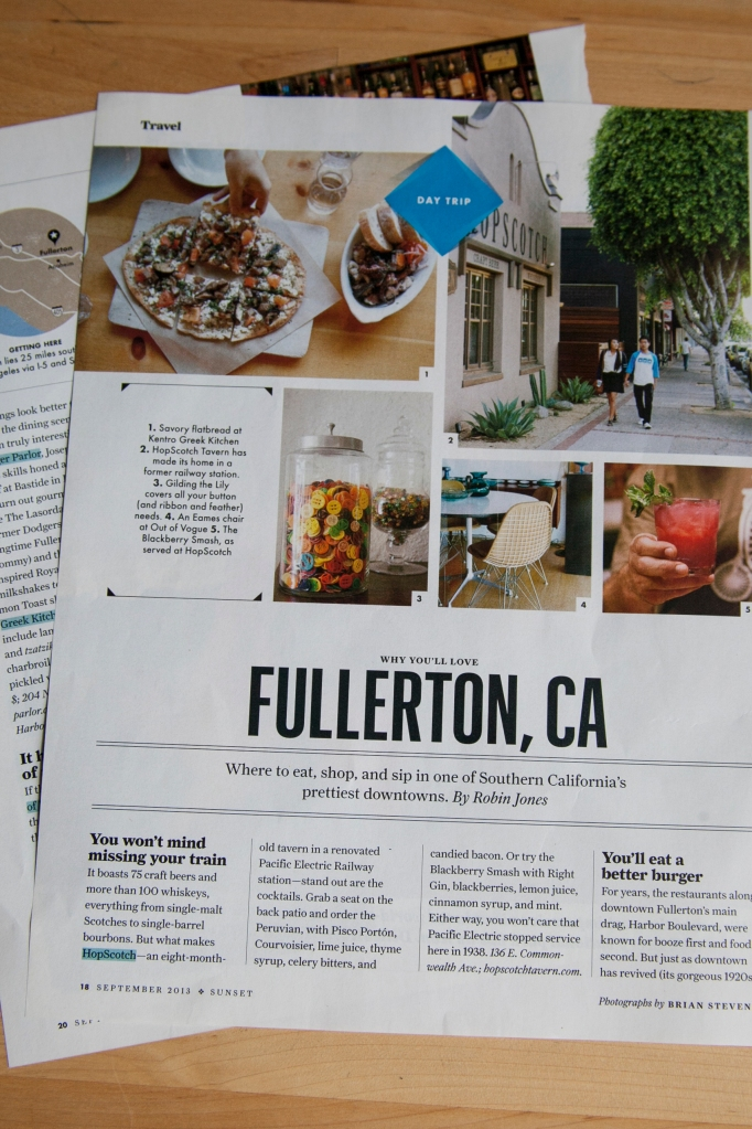 I found this segment in Sunset Magazine. It's a write up on Fullerton. It's a city close to us and I've only been there once to go shopping. I'd love to go spend the day there walking around the downtown area. It's older and really cute, full of shops and cool restaurants. I'd love to spend more time exploring Orange County like a tourist. There are a ton of reasons people come here on vacation!