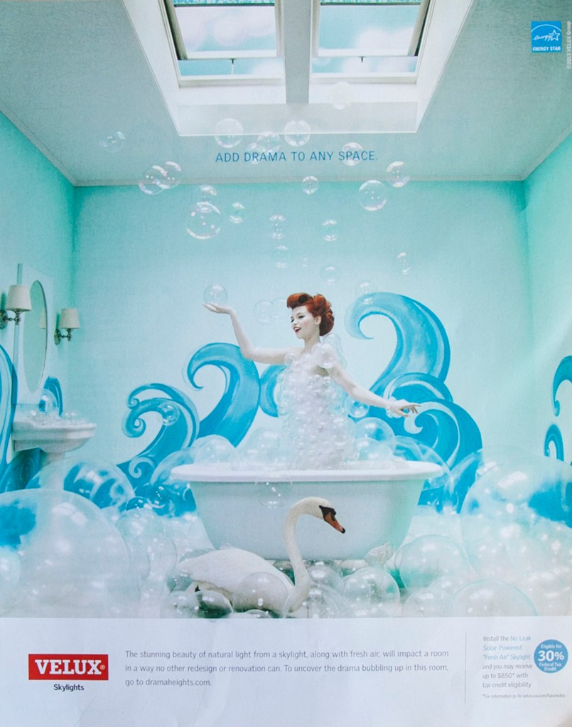 OK, Seriously? How can you not want to do a bathtub and bubble photo shoot after seeing this? I really need to work something like this in. Now.