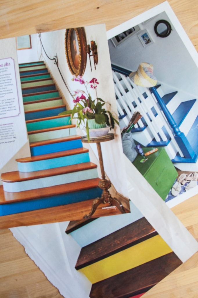 "Since I've been planning a few to-do's at home I have been wanting to remove the ""I hate to vacuum stairs"" carpet from my staircase. I really love when the staircase becomes a design feature! These are fabulous examples."