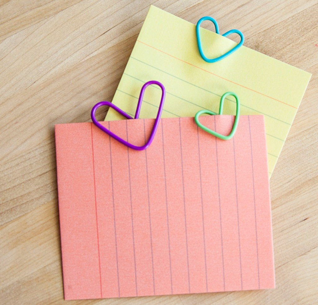 Here are a few of our paper clip hearts. How cute are they?! Right?!