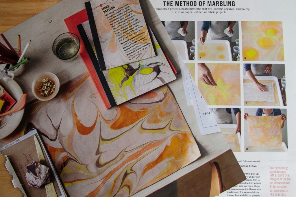 Thanking Martha for this little gem too. Instructions for Marbling fabric. I've loved the paper but being able to marble fabric would be amazing!