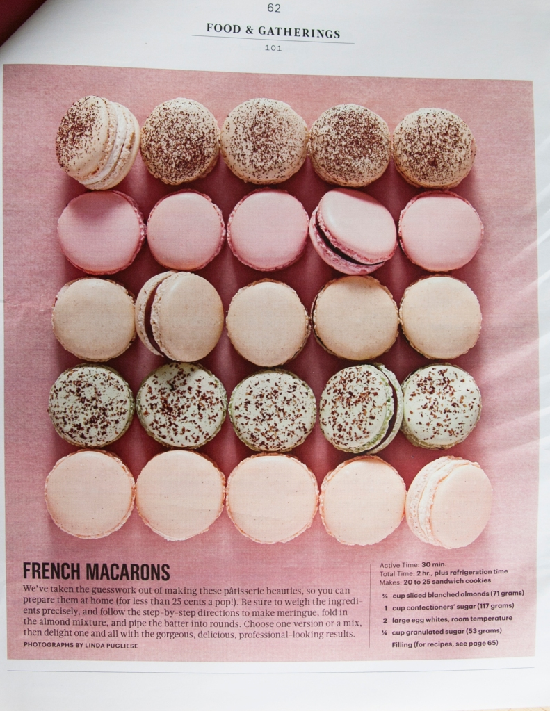 Thanks you Martha Stewart for posting this article with how-to included on making French Macaroons! I've been really wanting to try to make these and what better way than under Martha's direction?