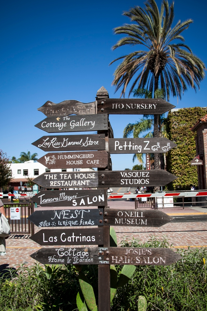 I love this little sign between the downtown area of San Juan Capistrano and the Rios District. This is at the RR crossing.