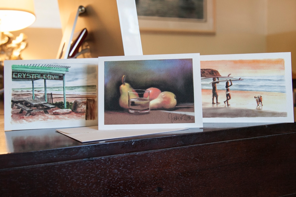 Vickie has been making her paintings into greeting cards