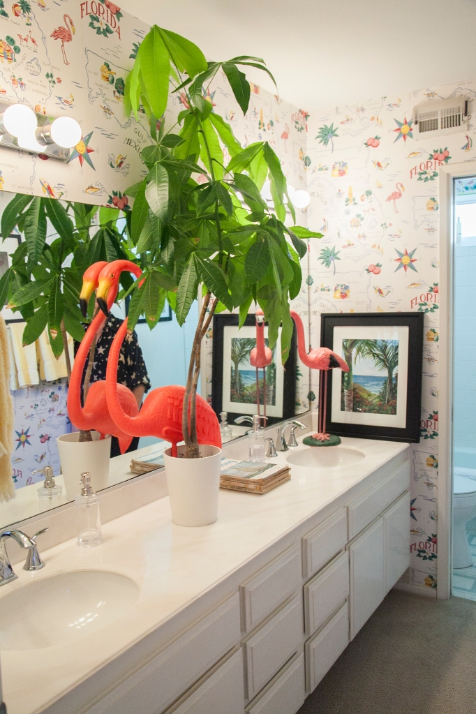 How cute is the guest bathroom?!