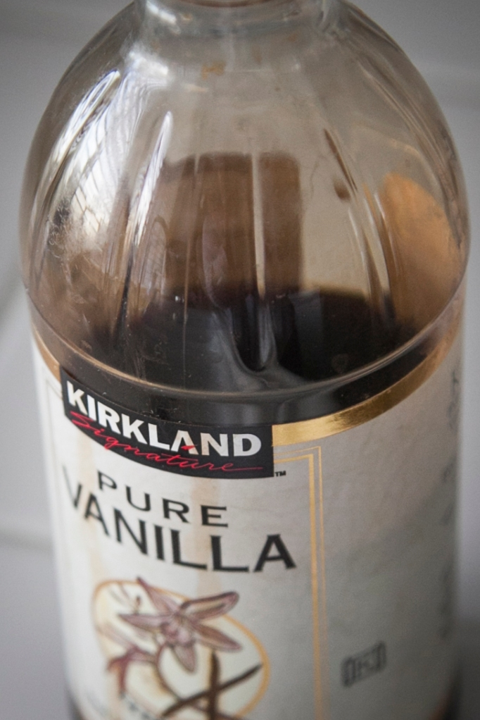 I said, vanilla… don't you love the way it smells. I'm not talking about imitation vanilla, never ever do that.