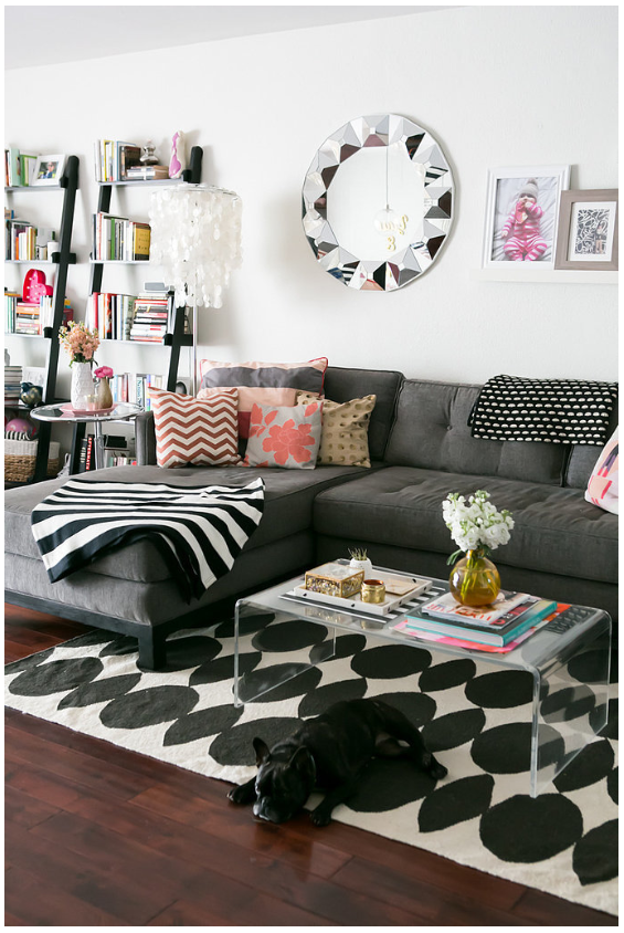 "I really think it's important to bring your own style with you! Moving to a smaller space allows us to have a more ""dense"" level of decor.  http://www.stylemepretty.com/living/gallery/picture/1575211/"