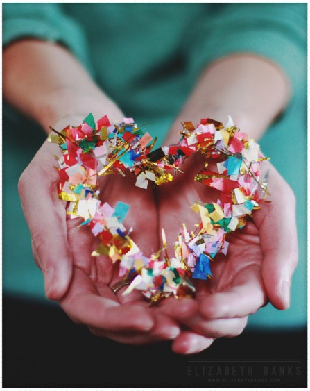 Confetti crafting! Posted by Dollar Store Crafts and  Aunt Peaches.