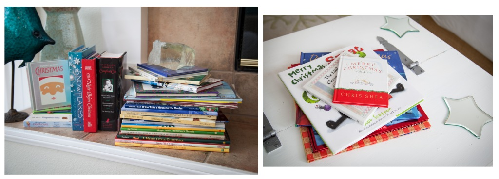 We have all of our Christmas books out. We pack them away every years and enjoy them like they're new every Christmas.