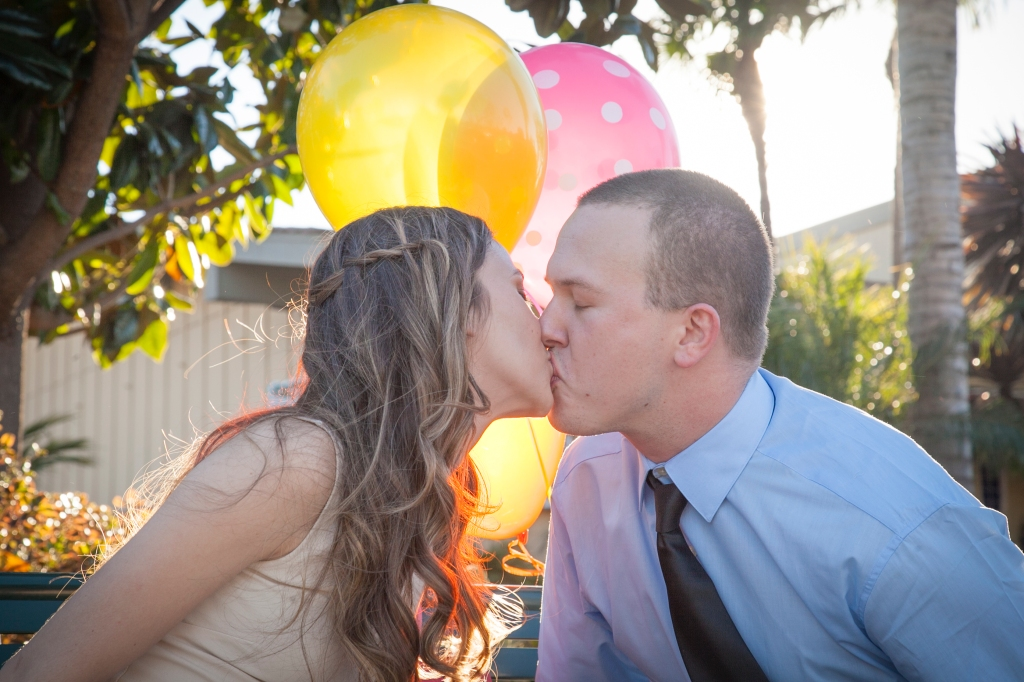 Loved the light through the balloons. Those will be their wedding colors this spring.