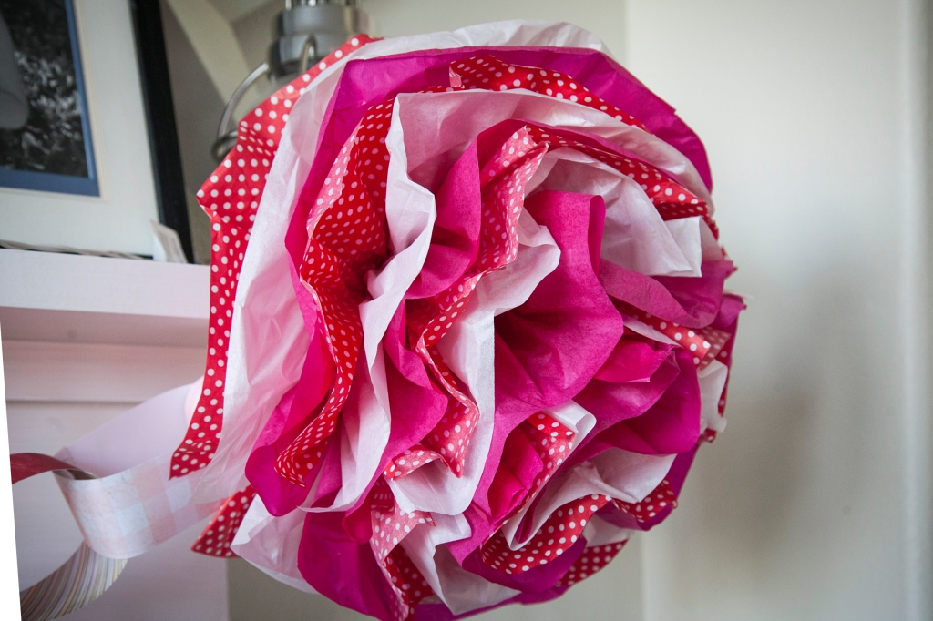 The best thing about making your tissue flowers is being able to choose whatever color, or pattern you want.