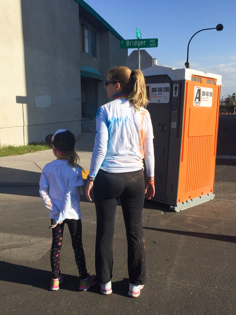 Sometimes very small people need to make pit-stops during a big race!