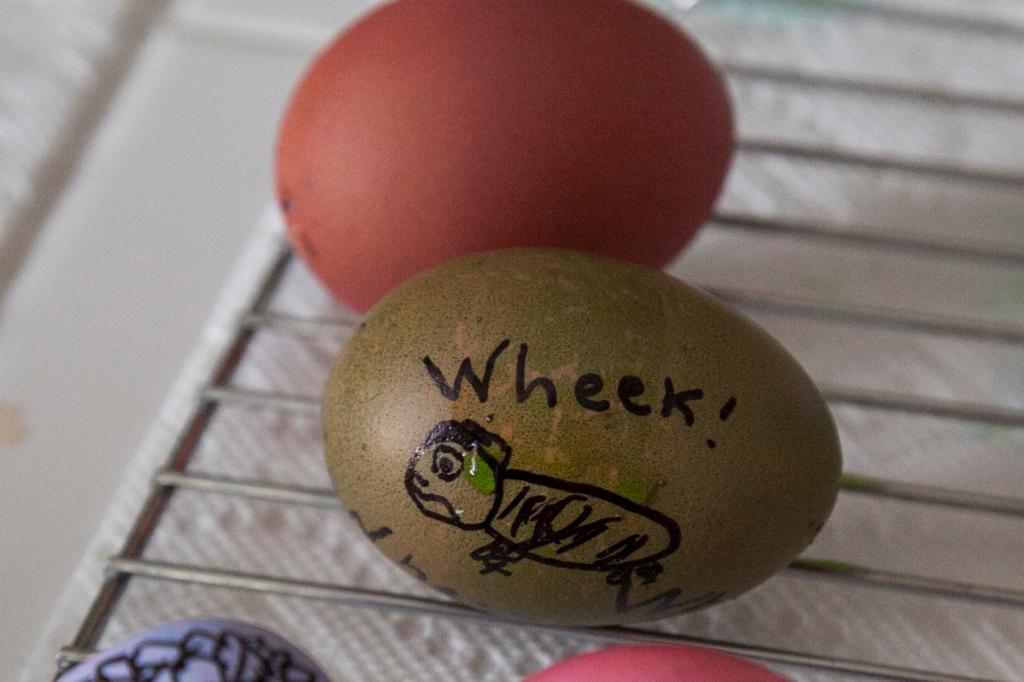 Of course, Emma makes a darling guinea pig egg...