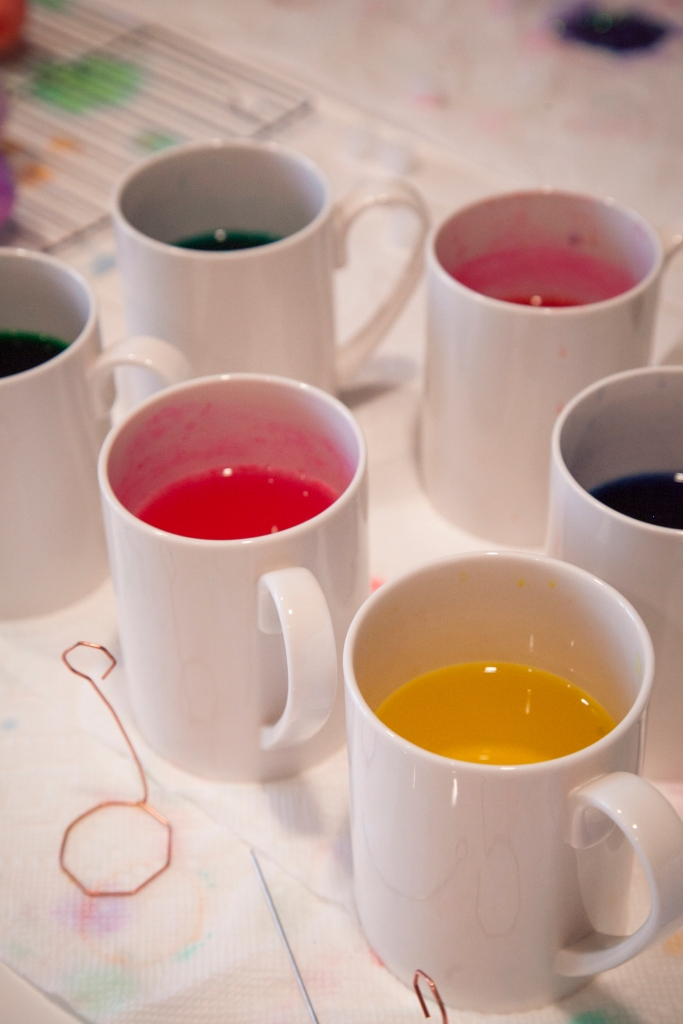 Sometimes I just look at the dye in the cups... What's not to love?