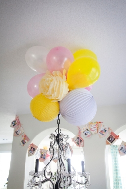 Love making these paper flower, balloon, and lantern clusters. It's such an easy way to add color.