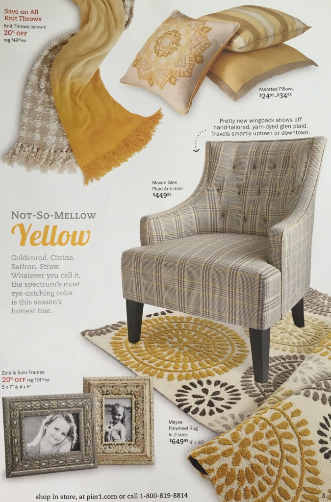 I just had a few pops of yellow at my old house but they more I use it the more I love it. I'd like to use more of it in our new house and am even toying with the idea of a yellow door. I think the shade of yellow can make a huge difference in how you use it, don't you?