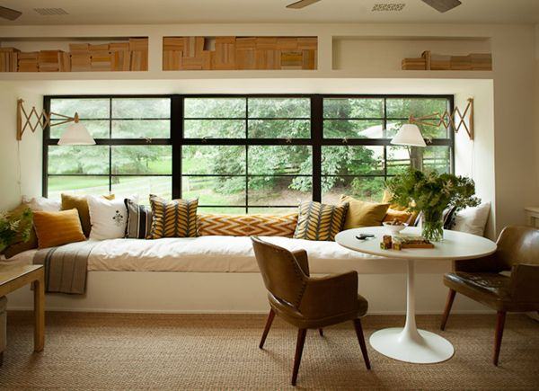 I am in love with this window seat. The plan is to install/build a seat that spans the length of the front windows. This will give Steve a place for a couple of filing cabinets and extra storage. http://www.cocokelley.com/2015/03/room-of-the-week-3-27-2/